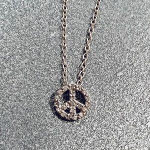 Jewelry - Diamond peace sign pendant